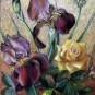 """Pastel sucha """"Irysy sąsiadki"""", 30 x 45 cm, kolekcja prywatna"""